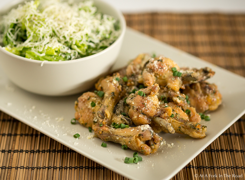 Oven Baked Garlic and Chive Chicken Wings